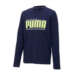 PUMA JUNIOR BOY ACTIVE SPORTS LONGSLEEVE TEE ROUND NECK LONGSLEEVE