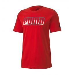PUMA MEN ROUND NECK ATHLETICS TEE BIG