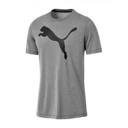 PUMA MEN ACTIVE BIG LOGO TEE JC TRAINING GREY