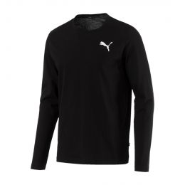 PUMA MEN ROUND NECK LONGSLEEVE ESSENTIALS LONGSLEEVE
