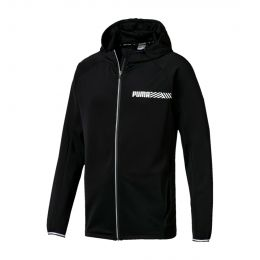 PUMA MEN TEC SPORTS HOODY JACKET BLACK