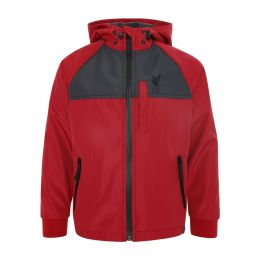 LFC JUNIOR BOY JUNIOR LIGHTWEIGHT HOODED RED JACKET