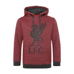 LFC JUNIOR BOY JUNIOR RED MARL LIVERBIRD HOODY