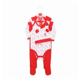LFC KIDS BOY BABY 4-PIECE SET WHITE/RED