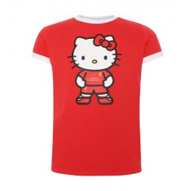 LFC HELLO KITTY JUNIOR RINGER TEE RED