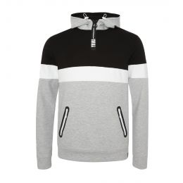 LFC MENS YNWA 1/4 ZIP COLOUR BLOCK HOODY