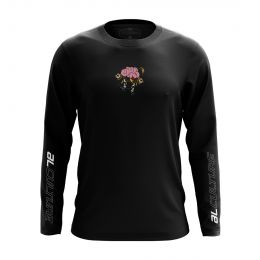AL MEN OLLIE CRACK ROUND NECK LONGSLEEVE BLACK