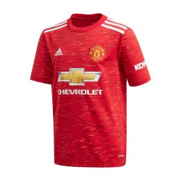 ADIDAS KIDS MANCHESTER UNITED 20/21 HOME JC REPLICA RED