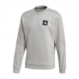ADIDAS MEN MUST HAVES CREW SWEATSHIRT ROUND NECK LONGSLEEVE GREY