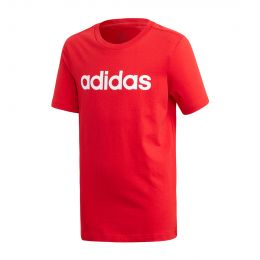 ADIDAS KIDS ESSENTIALS LINEAR LOGO TEE ROUND NECK RED