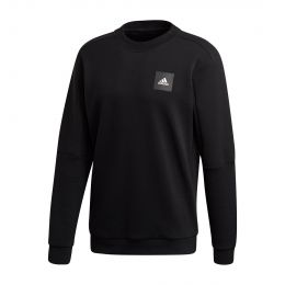 ADIDAS MEN MUST HAVES CREW SWEATSHIRT ROUND NECK LONGSLEEVE BLACK