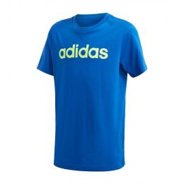ADIDAS KIDS ESSENTIALS LINEAR LOGO TEE ROUND NECK BLUE