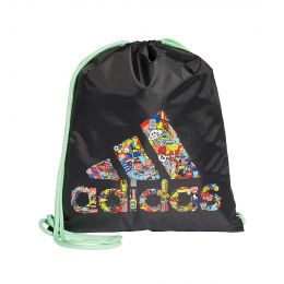 ADIDAS MEN CLEOFUS PRINT GYM SACK SHOE BAG BLACK