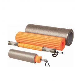 LIVEUP WOMEN YOGA ROLLER SET ACCESSORIES ORANGE