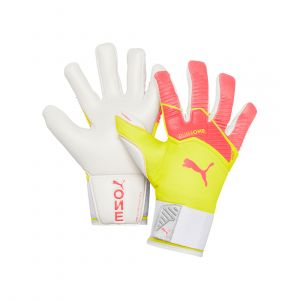 PUMA MEN ONE GRIP 1 HYBRID PRO GLOVE FOOTBALL PEACH