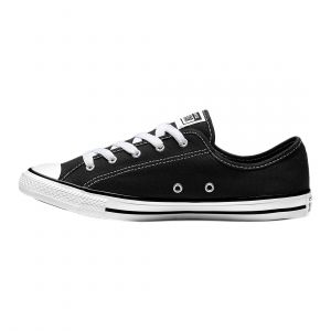 CONVERSE WOMEN CHUCK TAYLOR ALL STAR DAINTY NEW COMFORT LOW TOP LIFESTYLE BLACK