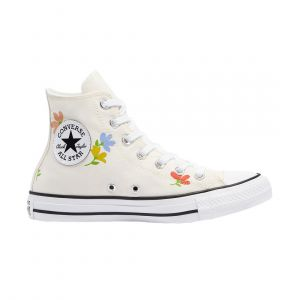 CONVERSE WOMEN FLORAL PRINT CHUCK TAYLOR ALL STAR HIGH TOP LIFESTYLE WHITE