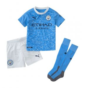 PUMA KIDS MANCHESTER CITY 2020/21 HOME MINI KIT INFANTS SET