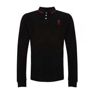 LFC MEN BLACK LONG SLEEVE  POLO