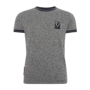 LFC KIDS CHARCOAL KNITTED CREST  ROUND NECK