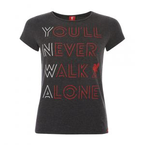 LFC WOMEN CHARCOAL MARL YOU'LL NEVER TEE ROUND NECK BLACK