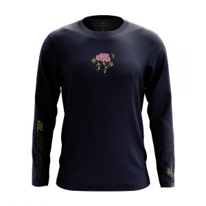 AL MEN OLLIE CRACK ROUND NECK LONGSLEEVE NAVY
