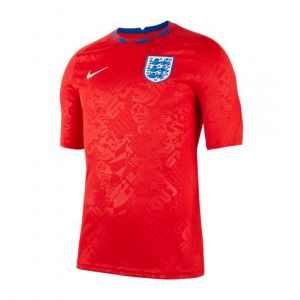 NIKE MEN ENGLAND SHORT-SLEEVE FOOTBALL TOP JC TRAINING RED