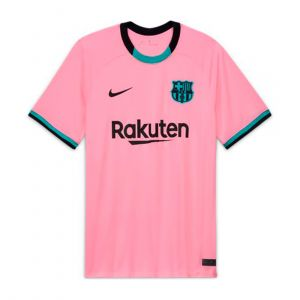 NIKE MEN F.C. BARCELONA 2020/21 STADIUM THIRD JERSEY RED
