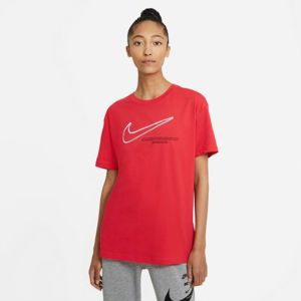 NIKE WOMEN SPORTSWEAR SWOOSH ROUND NECK RED