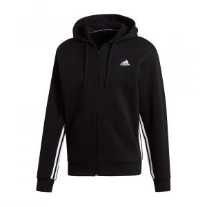 ADIDAS MEN MUST HAVES 3-STRIPES HOODIE JACKET BLACK