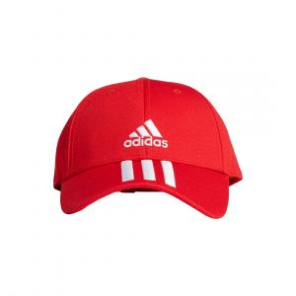 ADIDAS MEN BASEBALL 3-STRIPES TWILL CAPS RED