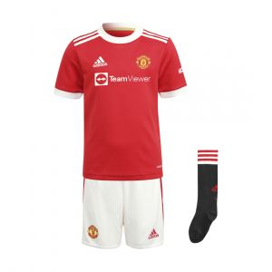 MANCHESTER UNITED 21/22 ADIDAS HOME KIDS MINIKIT INFANTS SET RED