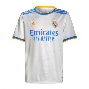 REAL MADRID 21/22 ADIDAS KIDS HOME JERSEY REPLICA WHITE
